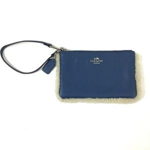 COACH   Shearling Leather Wristlet